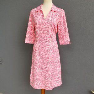 J. Mc Laughlin Pink Collared Dress XL